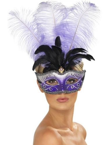 Venetian Colombina EyeFancy Dress Mask Thumbnail 1
