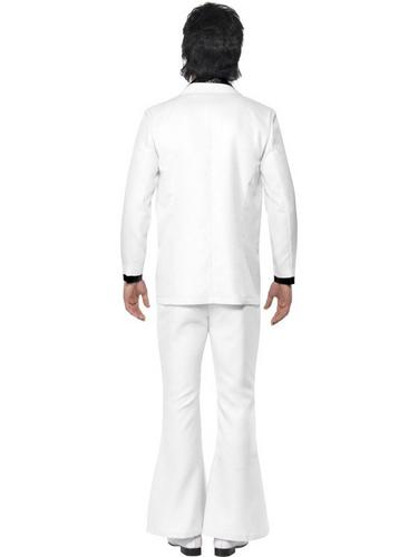 White 1970s Suit Fancy Dress Costume Thumbnail 2