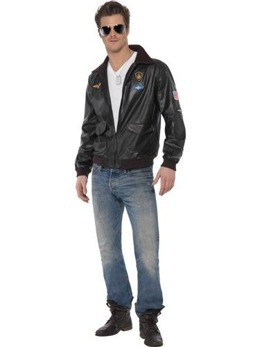 Top Gun Bomber Jacket Fancy Dress Costume Thumbnail 1