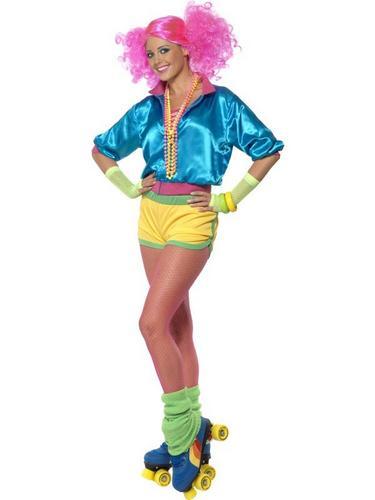 Skater Girl Fancy Dress Costume Thumbnail 1