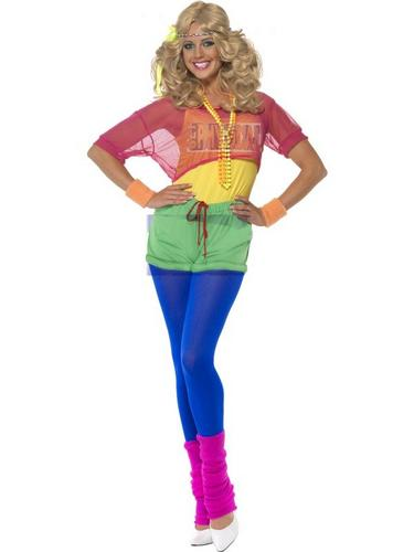 Lets Get Physical Girl Fancy Dress Costume Thumbnail 1