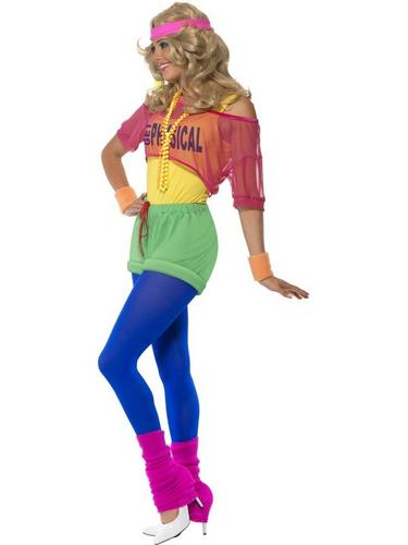 Lets Get Physical Girl Fancy Dress Costume Thumbnail 3
