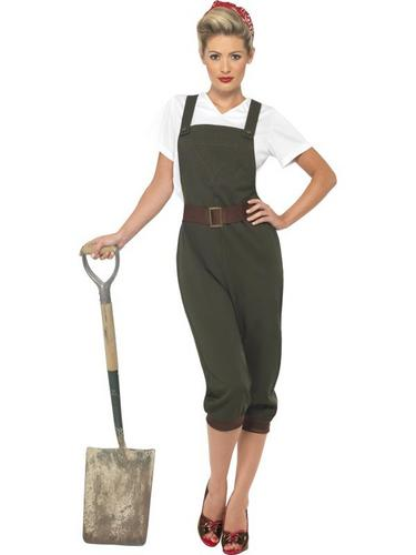 WW2 Land Girl Fancy Dress Costume Thumbnail 1