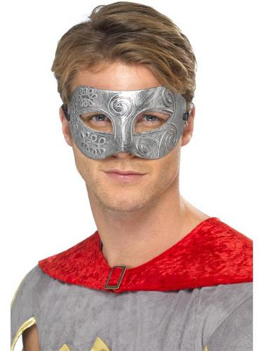 Metallic Warrior Colombina EyeFancy Dress Mask Thumbnail 1