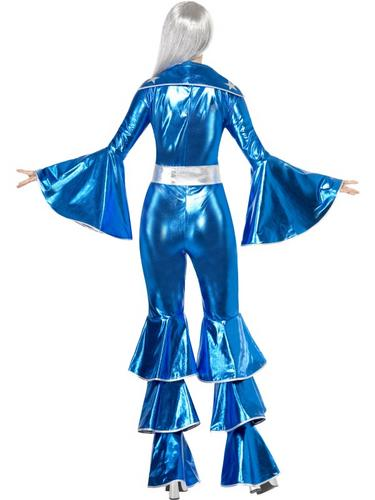 1970s Dancing Dream Fancy Dress Costume Blue Thumbnail 2