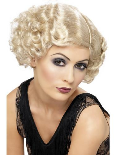 20's Flirty Flapper Wig Blonde Thumbnail 2