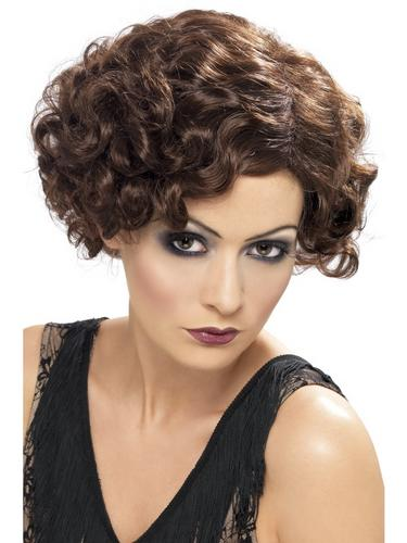 20's Flirty Flapper Wig Brown Thumbnail 2
