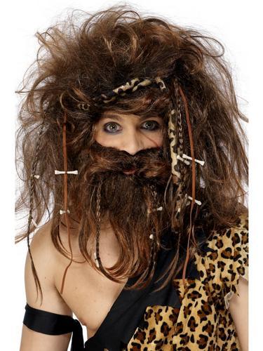 Crazy Caveman Wig Set Thumbnail 1