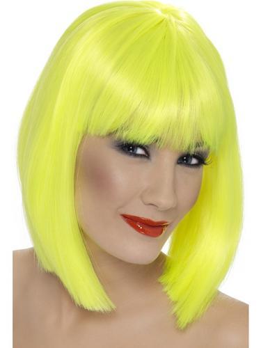 Glam Wig Neon Yellow Thumbnail 1