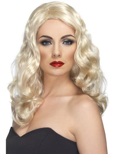 Glamorous Fancy Dress Wig Blonde Thumbnail 1