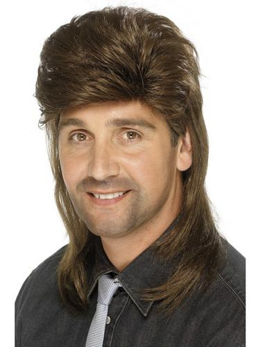 Mullet Wig Dark Brown Thumbnail 2