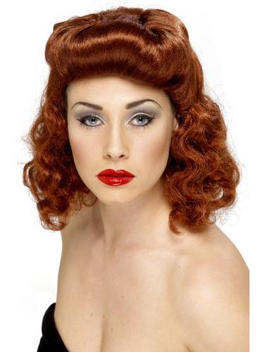 Pin Up Girl Wig Auburn Thumbnail 2