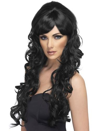 Pop Starlet Fancy Dress Wig Black Thumbnail 1