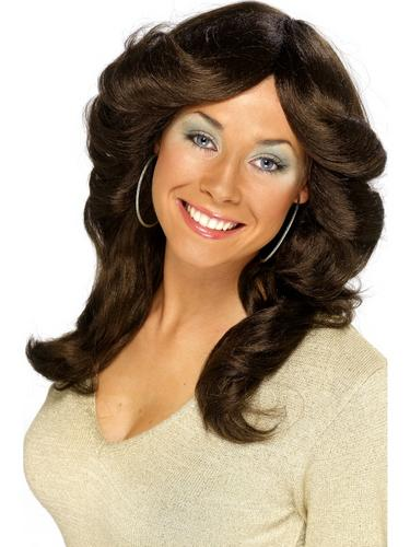 70's Flick Wig Brown