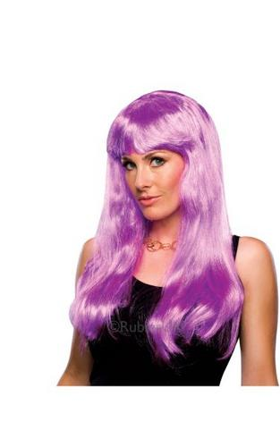 Glamour Fancy Dress Wig Magenta Thumbnail 1