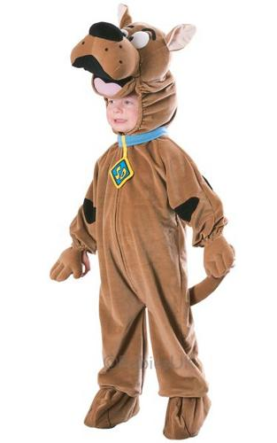 Childs Deluxe Scooby Doo Fancy Dress Costume Thumbnail 1