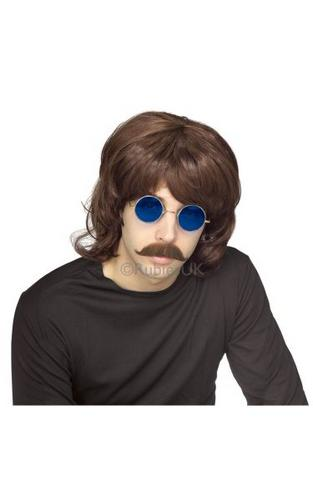 70s Shag Fancy Dress Wig Brown Thumbnail 1