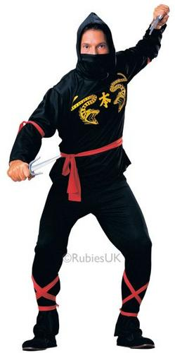Ninja Fancy Dress Costume Thumbnail 1