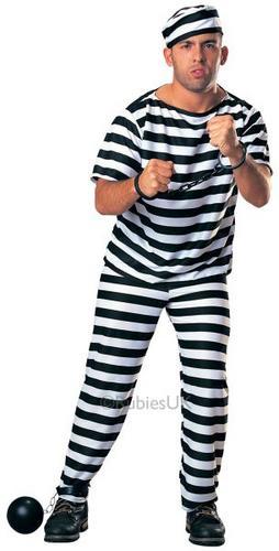 Prisoner Man Fancy Dress Costume Thumbnail 1