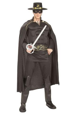 Deluxe Muscle Chest Zorro Fancy Dress Costume Thumbnail 1