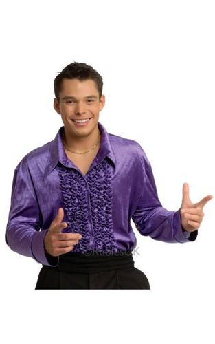 Purple Velvet Disco Shirt Thumbnail 1