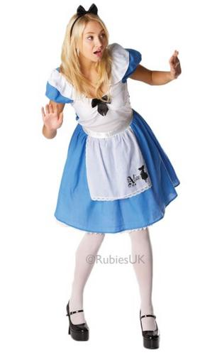 Alice in Wonderland Classic Fancy Dress Costume Thumbnail 1