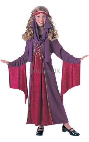 Girls Gothic Princess Fancy Dress Costume Thumbnail 1