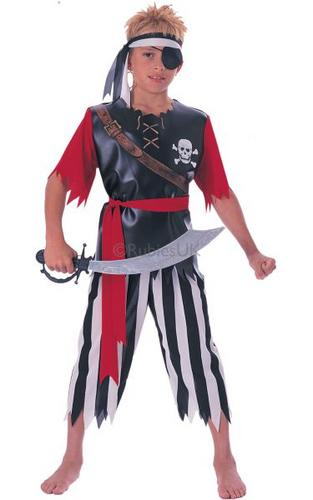 Boys Pirate King Fancy Dress Costume Thumbnail 1