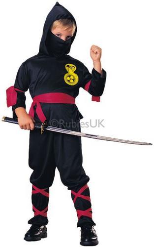 Boys Ninja Fancy Dress Costume Thumbnail 1