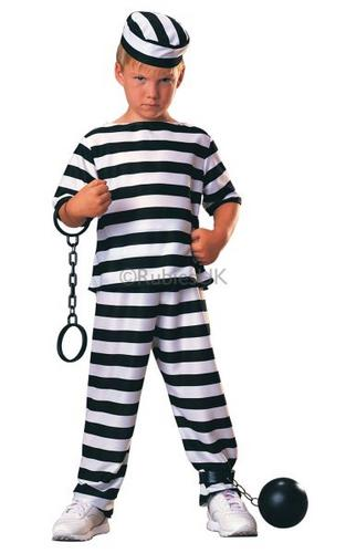 Prisoner Boy Fancy Dress Costume Thumbnail 1