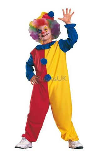 Kids Clown Fancy Dress Costume Thumbnail 1