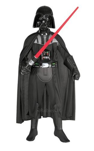 Deluxe Darth Vader Child Fancy Dress Costume Thumbnail 1