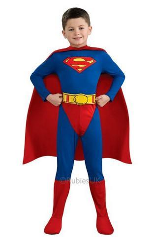 Kids Superman Fancy Dress Costume Thumbnail 1