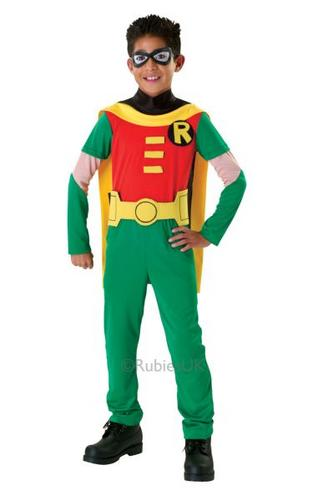 Kids Robin Fancy Dress Costume Thumbnail 1