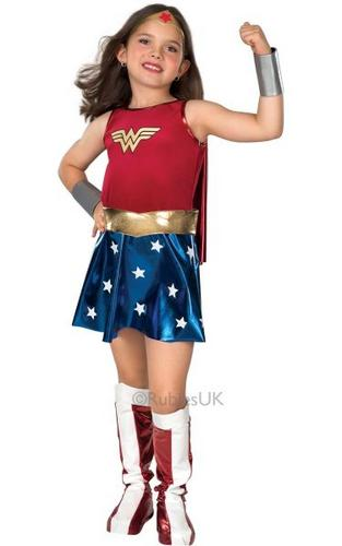 Childs Wonder Woman Fancy Dress Costume Thumbnail 1