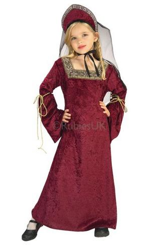 Kids Lady of the Palace Fancy Dress Costume Thumbnail 1