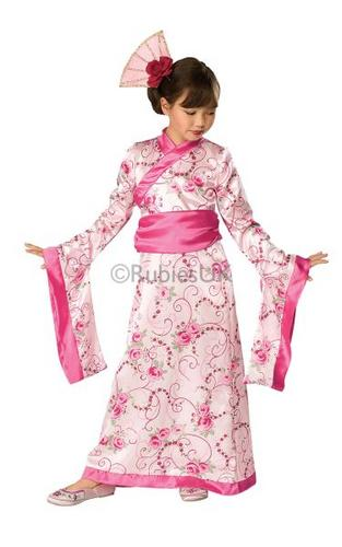 Girls Asian Princess Fancy Dress Costume Thumbnail 1