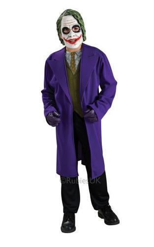 Kids Joker Fancy Dress Costume Thumbnail 1