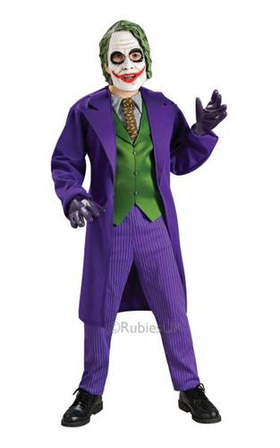 Kids Deluxe The Joker Fancy Dress Costume Thumbnail 1