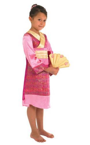 Girls Oriental Princess Fancy Dress Costume Thumbnail 1