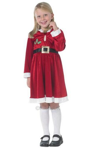 Girls Miss Santa Fancy Dress Costume Thumbnail 1