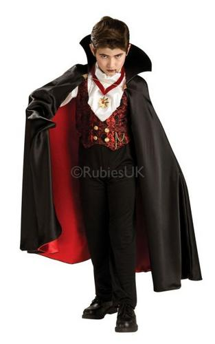 Kids Transylvanian Vampire Fancy Dress Costume Thumbnail 1