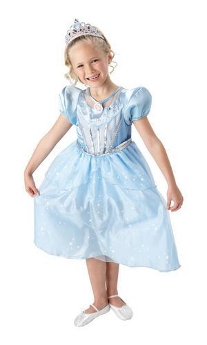 Cinderella Sparkle Dress Fancy Dress Costume Thumbnail 1