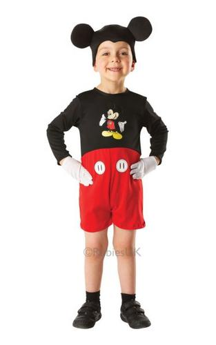 Kids Mickey Mouse Classic Fancy Dress Costume Thumbnail 1
