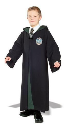 Kids Harry Potter Slytherin Robe Fancy Dress Costume Thumbnail 1
