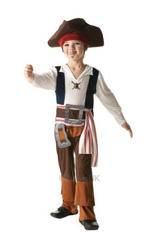 Kids Jack Sparrow Fancy Dress Costume Thumbnail 1