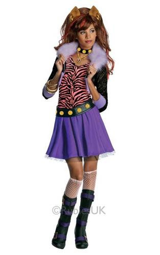Kids Monster High Clawdeen Wolf Fancy Dress Costume Thumbnail 1