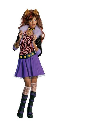 Kids Clawdeen Wolf Fancy Dress Wig Thumbnail 1