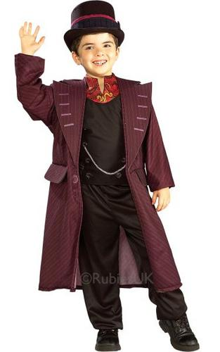 Kids Licensed Willy Wonka Fancy Dress Costume Thumbnail 1