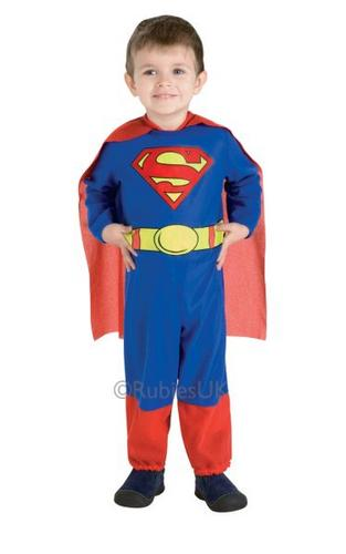 Boys Superman Fancy Dress Costume Thumbnail 1